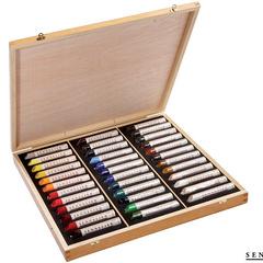 wooden set 36 assorted medium sticks