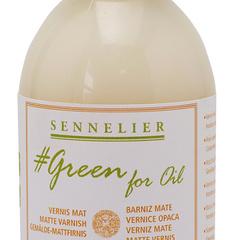 matt varnish green for oil