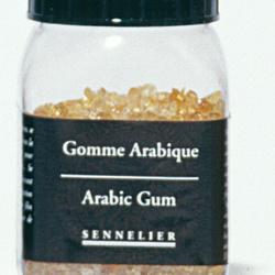 Arabic gum crystals