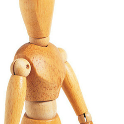Articulated wooden manikins