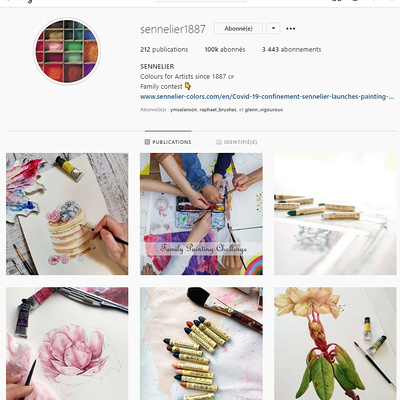 "Sennelier Instagram surpasses the 100,000 followers and organizes a ""Giveaway"" to celebrate the event."